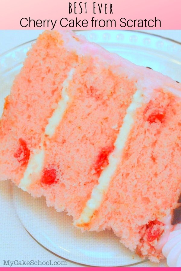 Delicious Slice of Homemade Cherry Cake