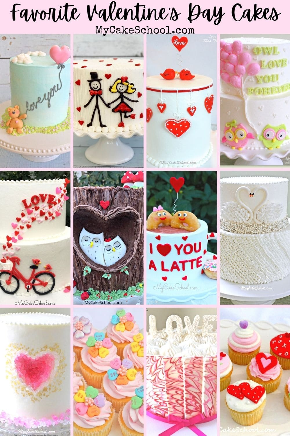 Sharing our Favorite Valentine's Day Cake Designs and Tutorials