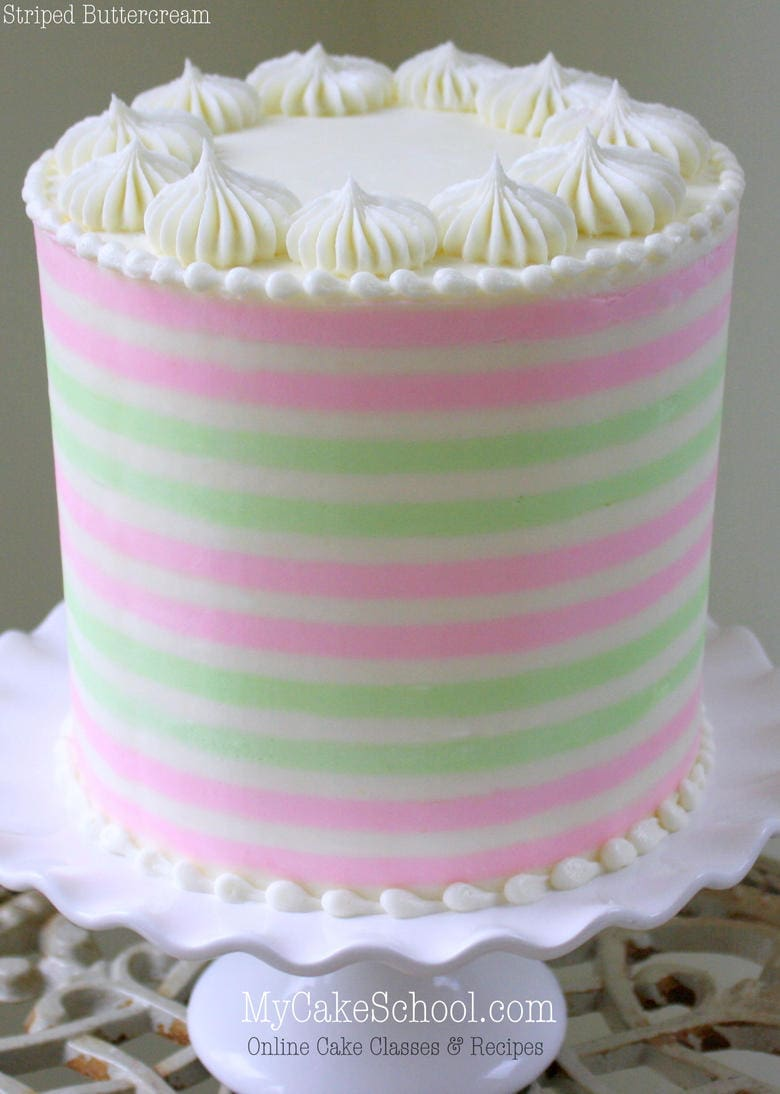 How to Create Striped Buttercream! -A Cake Decorating ...
