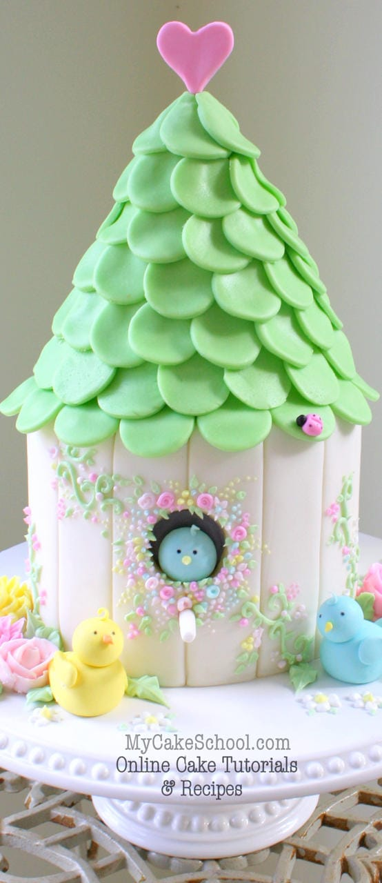 How to Make a Birdhouse Cake! My Cake School Tutorial My ...