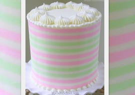 Learn to Make Beautiful Buttercream Stripes in this MyCakeSchool.com Member Tutorial! Online Cake Decorating Tutorials, Videos, & Recipes!!