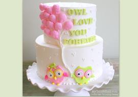 Owl Love You Forever! Free Cake Decorating Tutorial by MyCakeSchool.com! Online Cake Decorating Videos, Tutorials, & Recipes!