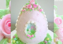 Gorgeous Sugar Egg Cake! Tutorial by MyCakeSchool.com.