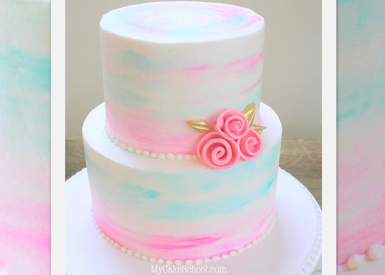Watercolor Buttercream – A Cake Decorating Video