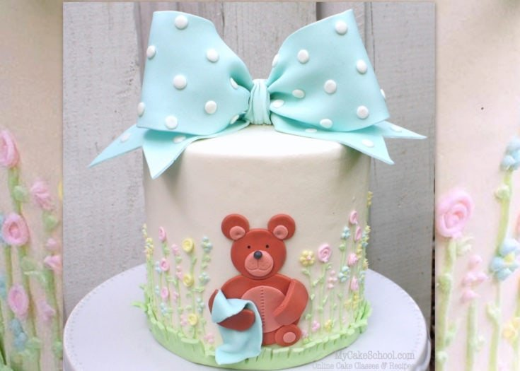 How to Make a Classic Bow & Teddy Bear Cake- Member Video Tutorial
