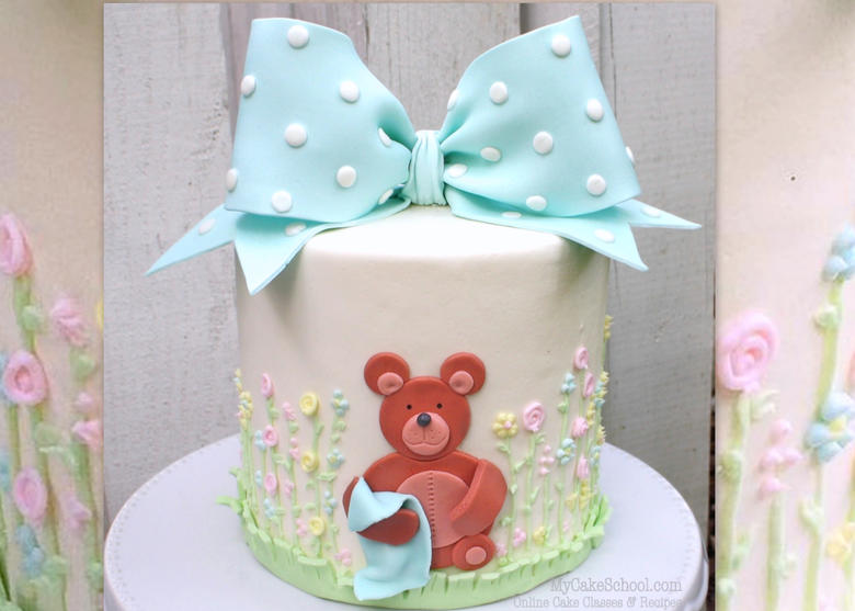 How to Make a Classic Bow & Teddy Bear Cake- Video Tutorial