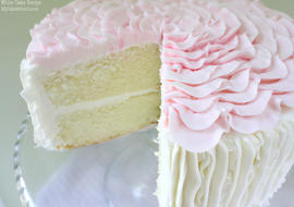 Super moist and flavorful White Cake Recipe from Scratch! MyCakeSchool.com.
