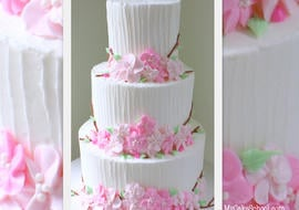 Beautiful Buttercream Cherry Blossoms Cake Decorating Video Tutorial by MyCakeSchool.com! Online Cake Classes & Recipes.