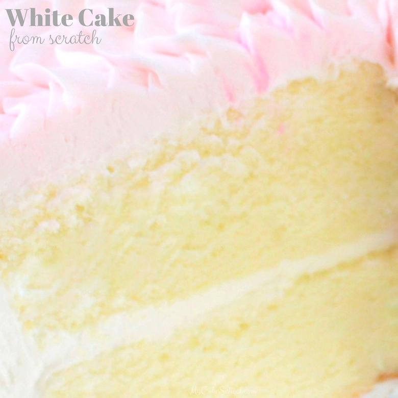 Moist and Flavorful White Cake from Scratch! Recipe by MyCakeSchool.com!