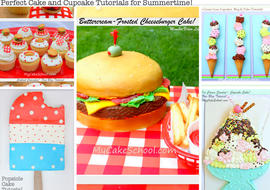 Cookout and Picnic Cake and Cupcake Themed Tutorials by MyCakeSchool.com!