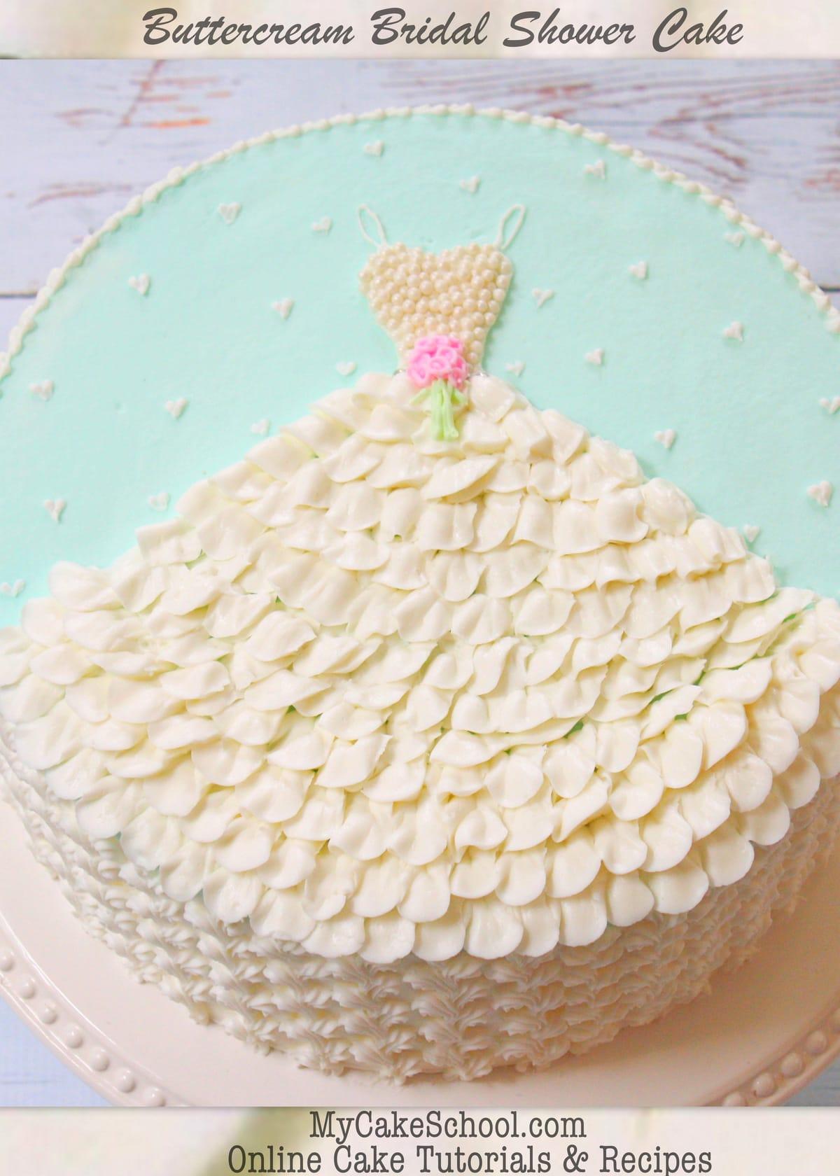 Simple Wedding Cake Design Buttercream : Wedding Dress in Buttercream- A Free Cake Decorating ...