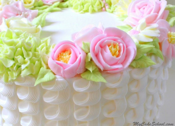 Buttercream Floral Wreath- A Cake Decorating Video