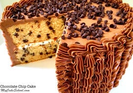Delicious Chocolate Chip Cake Recipe from Scratch! Moist, delicious, and flavorful cake recipe by MyCakeSchool.com.