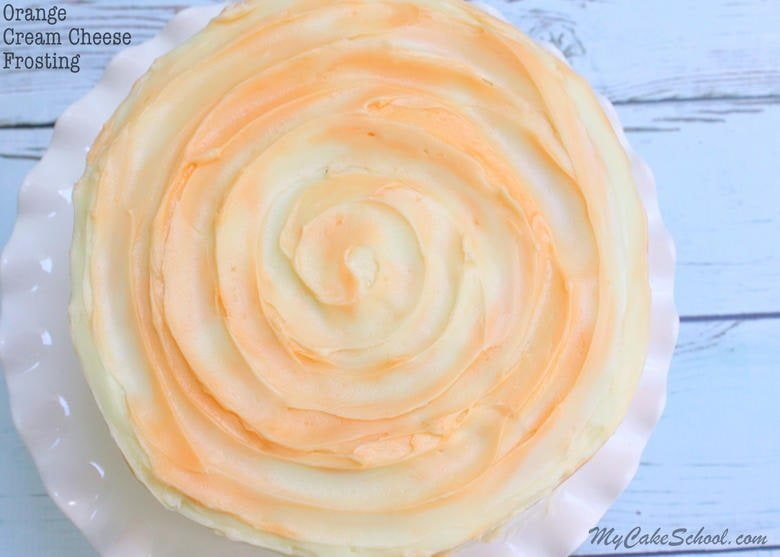 Amazing Orange Cream Cheese Frosting! Recipe by MyCakeSchool.com- Online Cake Decorating Classes & Recipes!