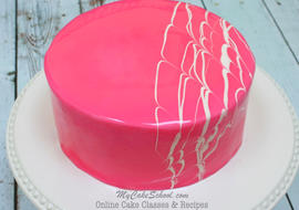 Learn How to Make a Mirror Glaze Cake in MyCakeSchool.com's Online Cake Decorating Video!