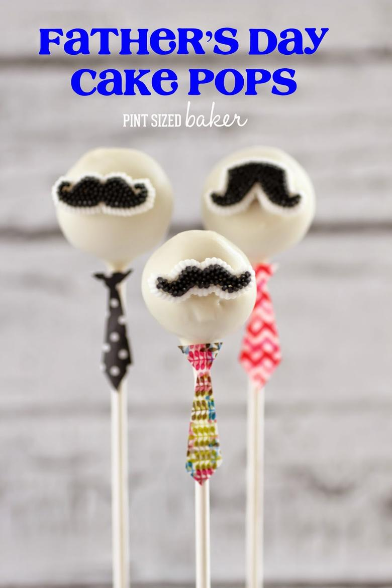 The CUTEST Father's Day Cake Pops by Pint Sized Baker (as Featured on MyCakeSchool.com's Father's Day Cake Roundup!)