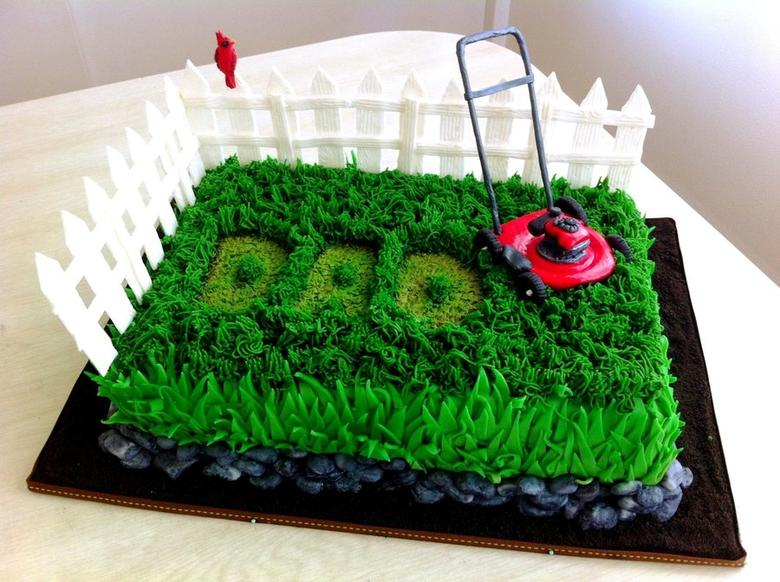 Lawn Mower Cake for Father's Day! By CakeFella of CakeCentral.com, as featured on MyCakeSchool.com's Father's Day Cake Roundup!