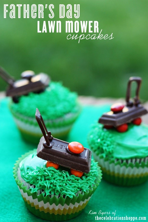 Father's Day Cake Roundup! CUTE Lawnmower Cupcakes by TheCelebrationShoppe.com!