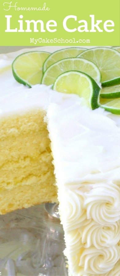 Delicious Lime cake from Scratch! Recipe by MyCakeSchool.com. Perfect for summer!