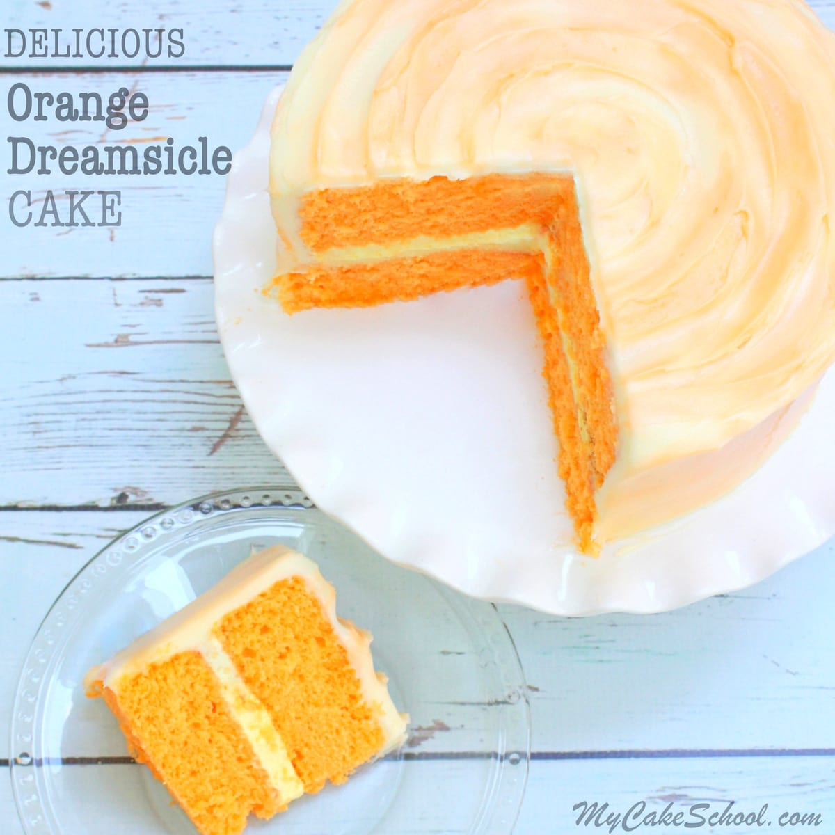 Orange Cake With Cream Cheese Filling