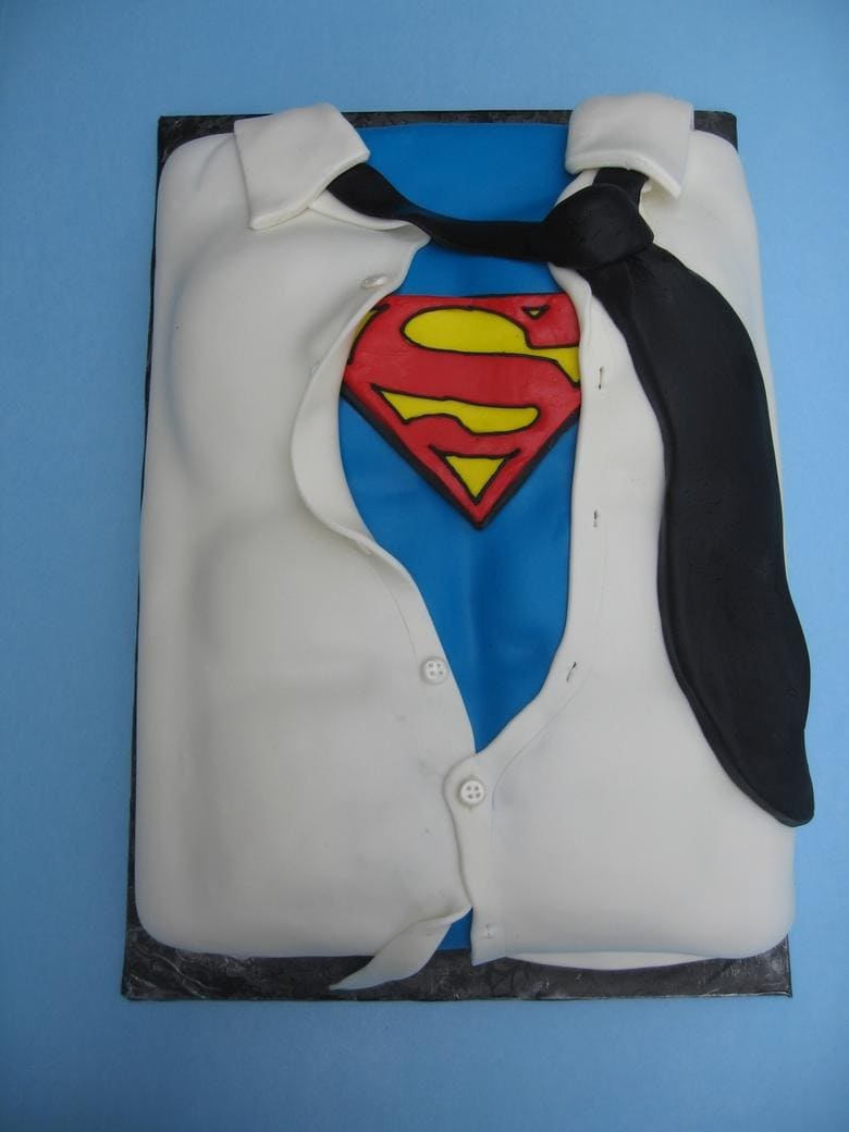 SuperDad Cake as featured on My Cake School's Father's Day Cake Roundup of Cakes, Tutorials, and Inspiration!