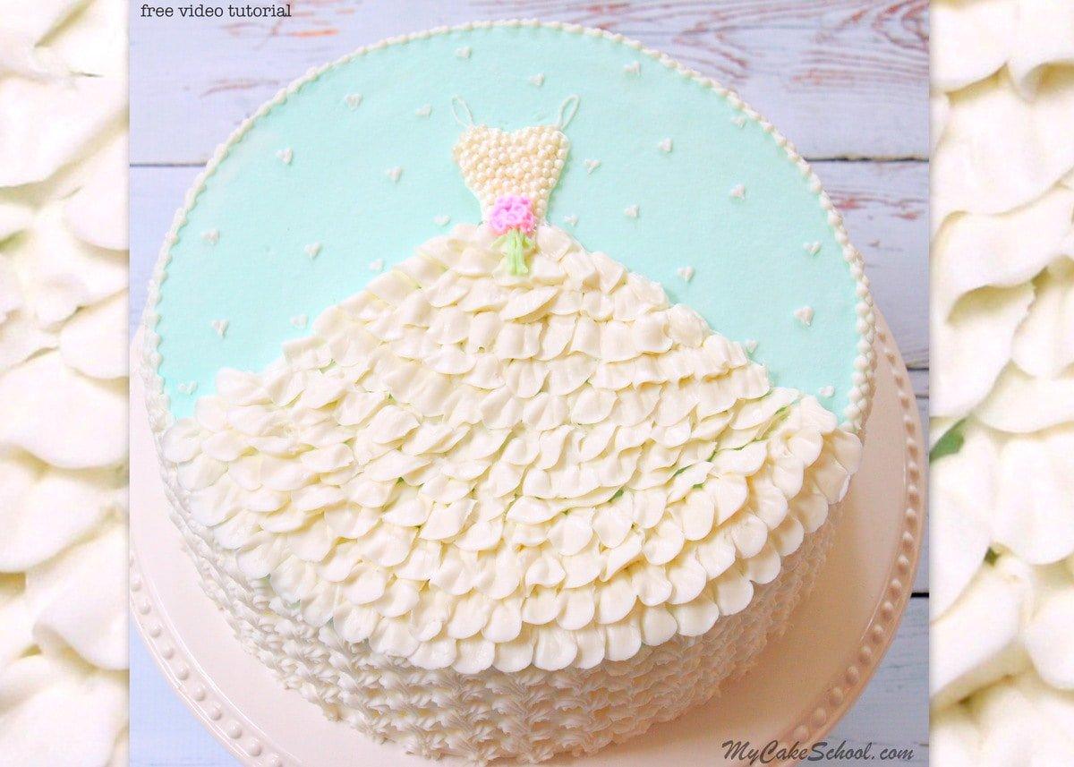 Wedding Dress In Buttercream A Free Cake Decorating Tutorial My Cake School