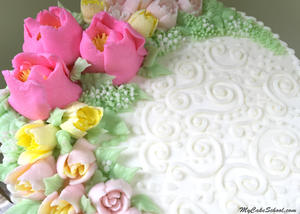 Gorgeous Buttercream Flowers and Russian Piping Tips! Cake Decorating Video Tutorial by MyCakeSchool.com!