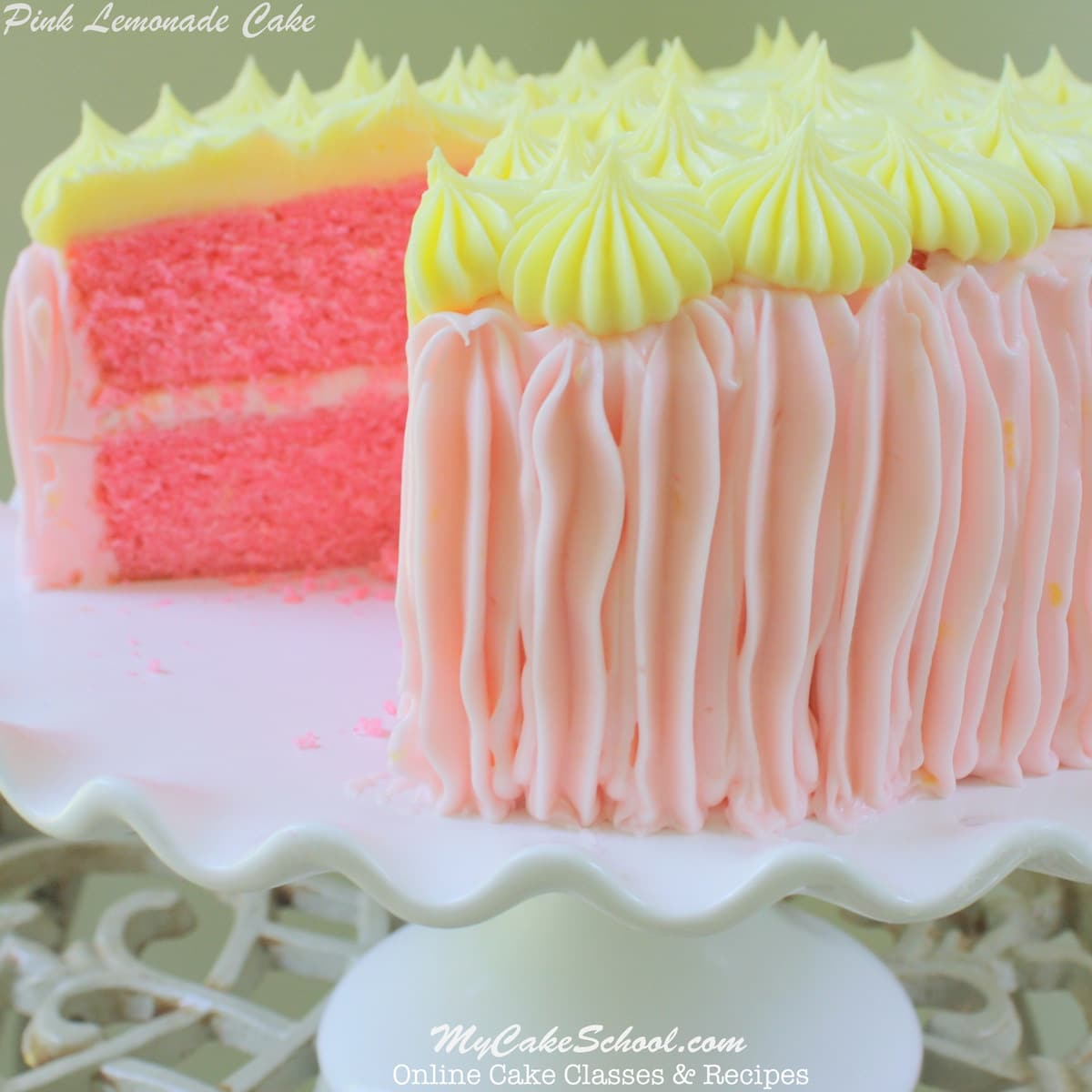Pink Lemonade Cake Cream Cheese Frosting