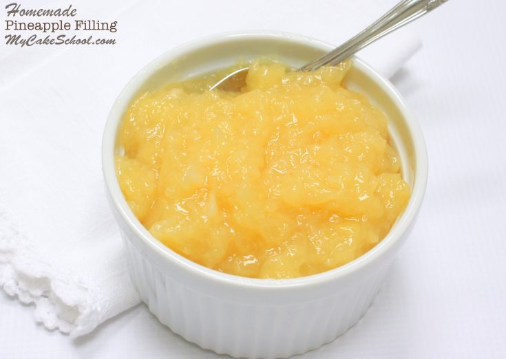 Delicious homemade Pineapple Filling Recipe for Cakes! My Cake School