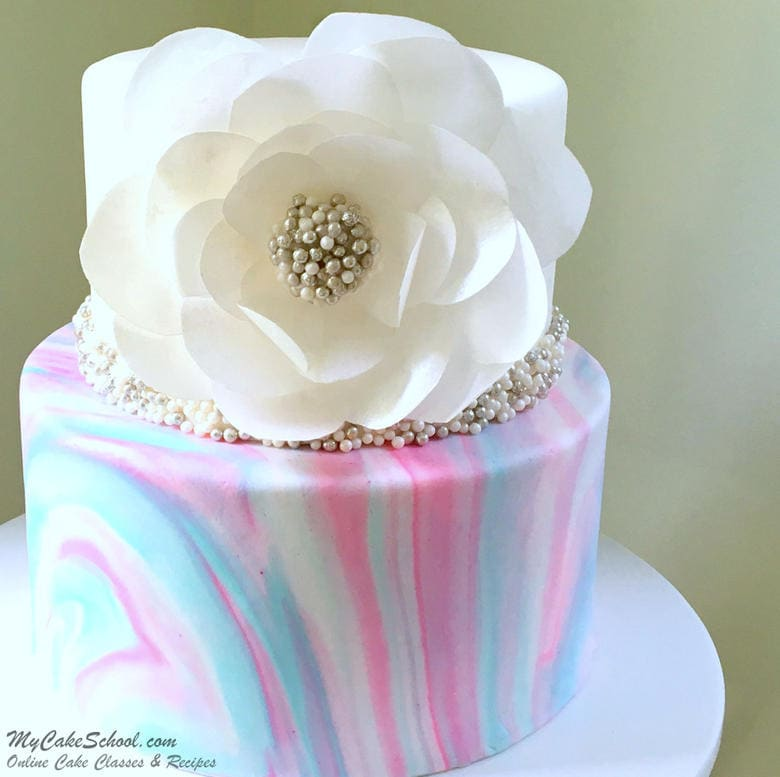 How To Make Marbled Fondant Cake
