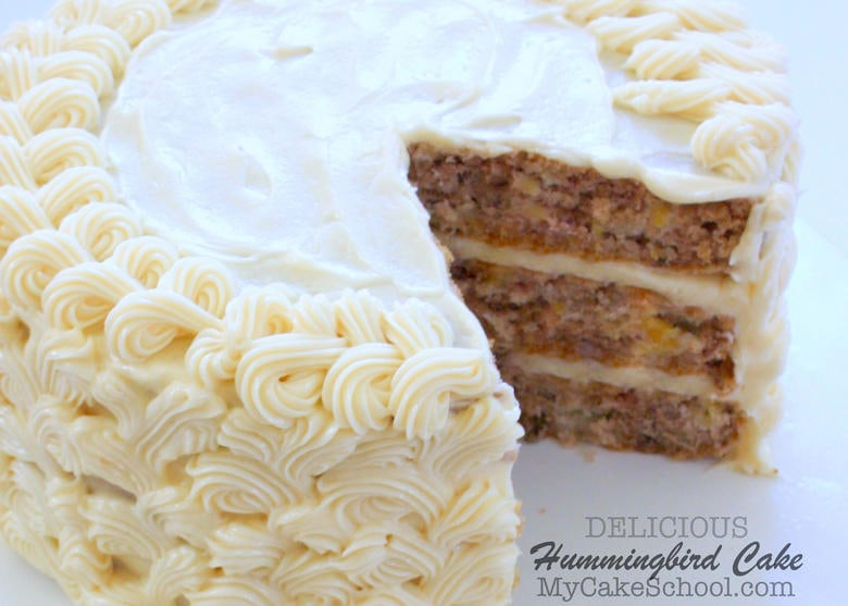 Delicious Homemade Hummingbird Cake Recipe- A Southern Classic! Recipe by MyCakeSchool.com.