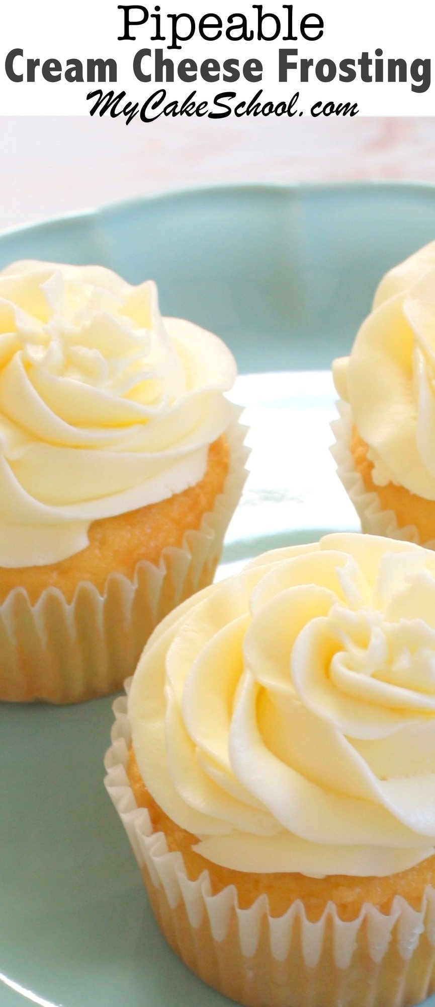 An AMAZING recipe for Pipeable Cream Cheese Frosting! You will love ...