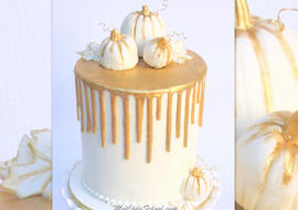 Beautiful Gold Drip Cake Video Tutorial from MyCakeSchool.com! (Member Cake Video Section)
