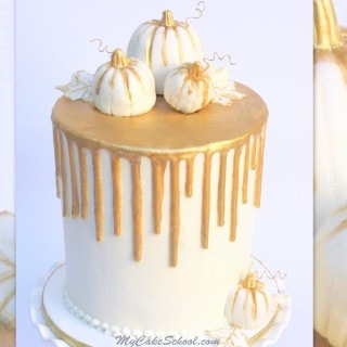 Beautiful Gold Drip Cake Video Tutorial from MyCakeSchool.com! (Member Cake Video Section)