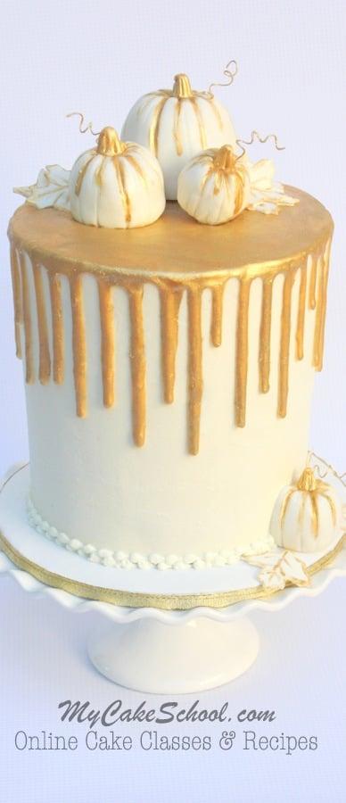 Chocolate Gold Drip On Buttercream Cake My Cake School