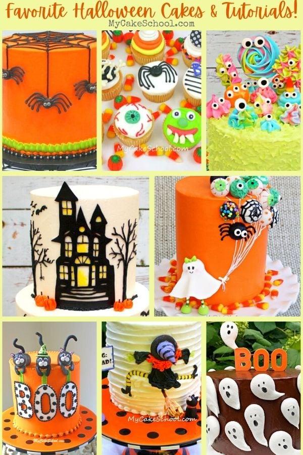 Favorite Halloween Cake Tutorials and Design Ideas by MyCakeSchool.com!