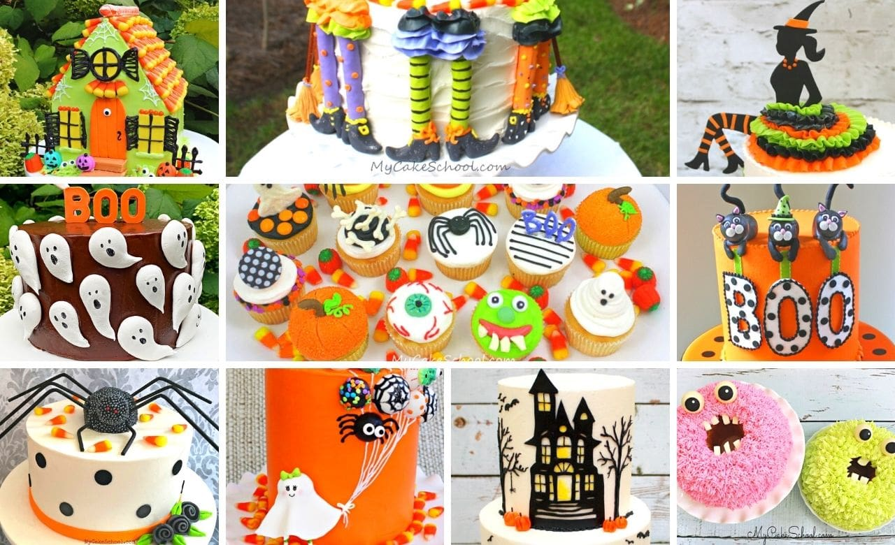 Sharing a collection of our FAVORITE Halloween Cake Decorating Designs and Tutorials!