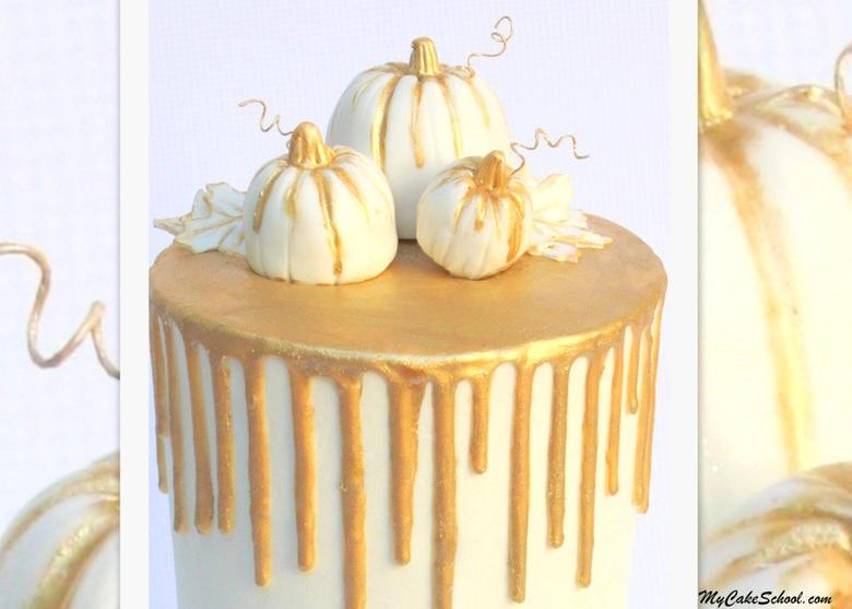 Chocolate Gold Drip Cake on Buttercream! A Cake Decorating Video Tutorial by MyCakeSchool.com. Online cake classes, cake recipes, and more!