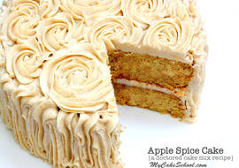 Today we are sharing an AMAZING Apple Spice Doctored Cake Mix recipe! It's the season for delicious spiced cakes and I have to say, this one's a keeper! We are slowly making our way through our Recipes section so that we can have a scratch version and doctored cake mix version of our favorite recipes. Apple Spice Cake is a classic fall recipe and I just love our scratch version for Caramel Apple Spice Cake.