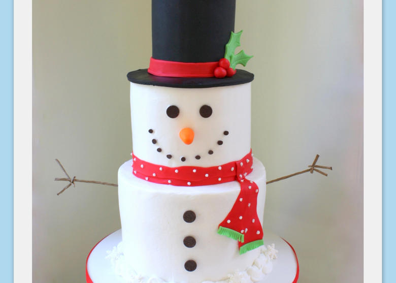 Tiered Snowman Cake – A Cake Decorating Video