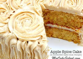 Delicious Apple Spice Cake-Doctored Cake Mix Recipe by MyCakeSchool.com! Online Cake Tutorials, Recipes, Videos, and More!