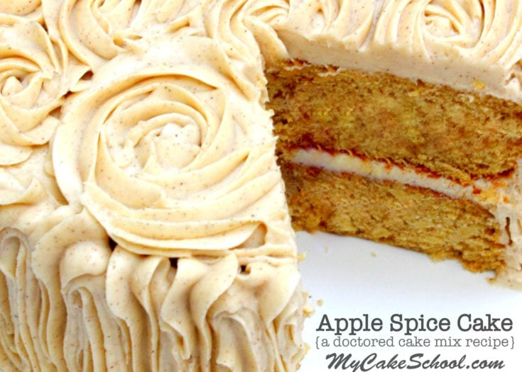 Apple Spice Cake- A Doctored Cake Mix Recipe