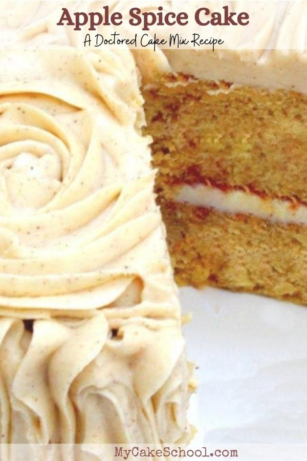 Delicious Apple Spice Cake- A Doctored Cake Mix Recipe- So easy and SO good!