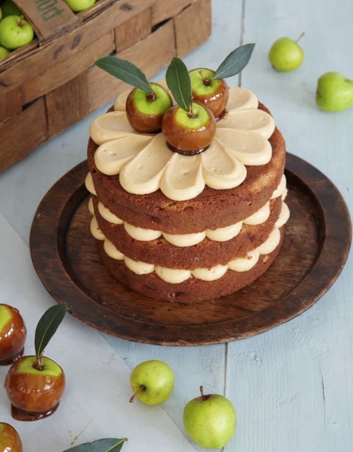 Toffee Apple Cake Recipe by Peggy Porschen, as featured on MyCakeSchool.com's Roundup of Fall Cake Recipes!