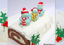 Adorable Birch Tree Cake with Birds! Cake decorating video tutorial by MyCakeSchool.com!