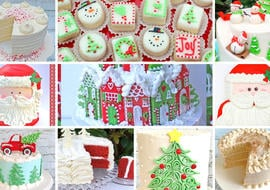 Roundup of Christmas Cake Designs and Recipes