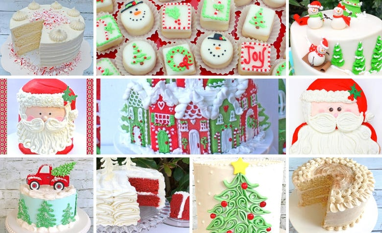 A Roundup of Our Christmas & Winter Cake Tutorials!