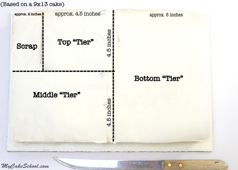 Adorable Tiered Sheet Cake! Free Tutorial by MyCakeSchool.com!