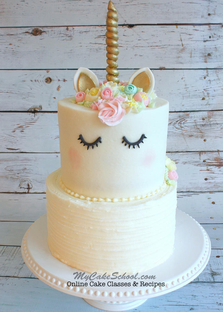 Unicorn Cake- A Cake Decorating Video Tutorial My Cake ...