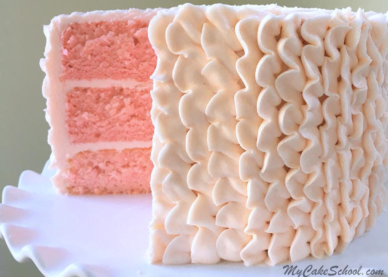 Pink Champagne Cake -A Doctored Cake Mix Recipe